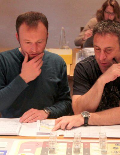 Teilnehmer eines Planspiels